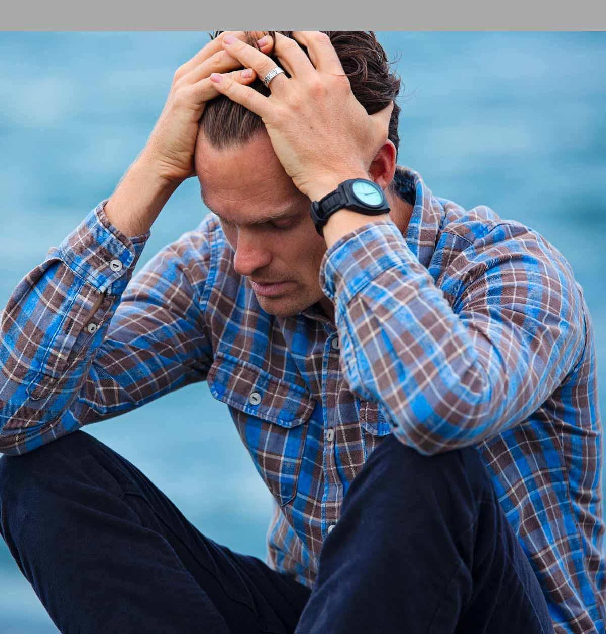 Stressed about data loss Sydney - man frustrated